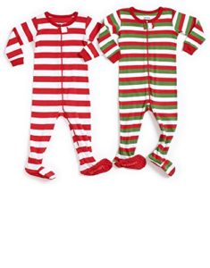 Leveret Striped Baby Boys Girls Footed Pajamas Sleeper 100% Cotton Kids   Toddler  Christmas Pjs (3 Months-5 Toddler) For fire safety ed86b6b5e